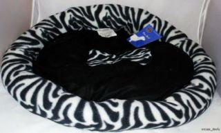 "Bow WOW Animal Print Pet Bed Large Fleece Dog Pet Bed 26"" x 22"" New"