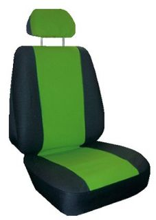 Green Black Faux Leather 6 Piece Racing Car Seat Covers