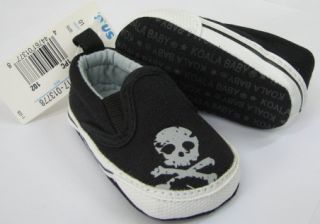 New Skull Canvas Slip on Sneakers Baby Cute Cool Children Toddler Boy Shoes