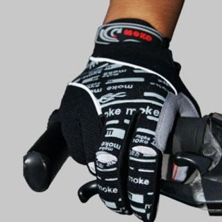 2013 Winter New Cycling Bike Bicycle Full Finger Gloves Black Color Size M XL