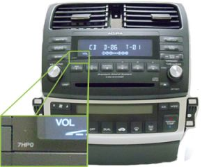 Block Only Acura TSX Radio 6 Disc Changer CD Player Mechanism 7HB0 7HA0 7ED0