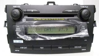 New 2009 2010 Toyota Corolla Radio 6 Disc CD Changer Player 90 Days Warranty