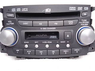 06 07 08 Acura TL Radio Stereo DVD 6 Disc Changer  CD Player Tape Cassette