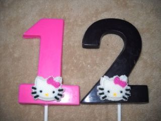 Chocolate Edible Icing Large 3x4 Cat Hello Kitty Lollipops Lollipop Favors