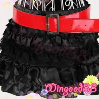 Women Lady Sexy Lingerie Red Top Black Mini Skirt Club Party Wear Cosplay Dress