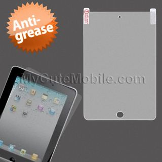 Apple iPad Mini Anti Grease Clear LCD Screen Protector Sticker with Screen Wipe