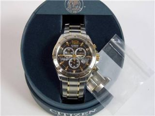 Mint Citizen Men's AT2074 58E Chronograph Eco Drive Stainless Steel Watch $325