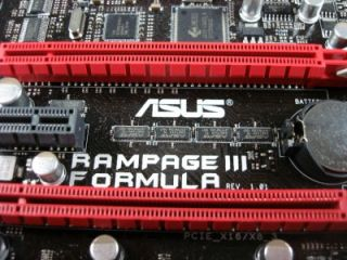 Asus Rampage III Formula 1366 Intel x58 SLI CrossFireX ATX Motherboard as Is