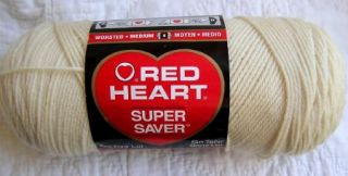Red Heart Super Saver Yarn 0313 Aran Beige Natural 7 oz Skein Worsted Acrylic