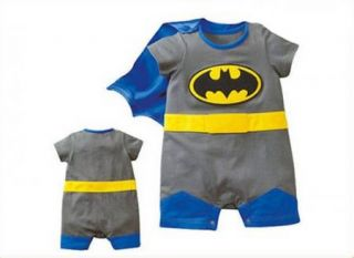 Baby Romper Superman Batman Baby Legging Rompers Baby Clothing Kid Apparel Blue