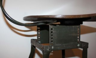 Industrial Machine Age Toledo Drafting Lab Chair