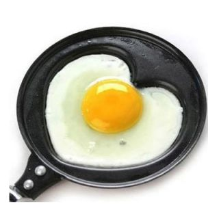 New Mini Lovely Small Family Heart Shaped Egg Frying Kitchen Non Stick Pan Pot