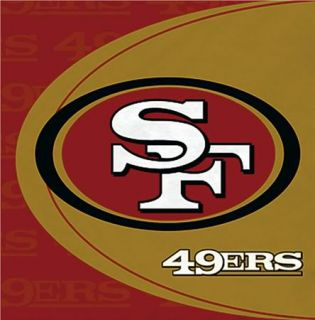NFL San Francisco 49ers Luncheon Napkins 16ct Tail Gate Party Supplies