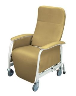 Lumex 565WG Extra Wide Recliner Geri Chair Vintage Gold 565WG401