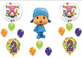 Pocoyo Friends 2nd Second Happy Birthday Party Balloons Decorations Supplies