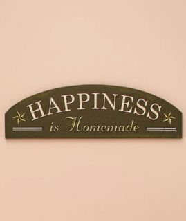 Happiness Is Home Sentiment Wall Plaque Sign Wall Nice Over Door or Collage