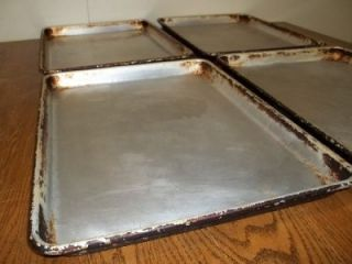 Half 1 2 Size Aluminum Baking Sheet Tray Cookie Lot 4