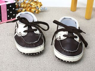 New Toddler Baby Boy White Brown Dress Shoes US Size 2 3 4 A1094