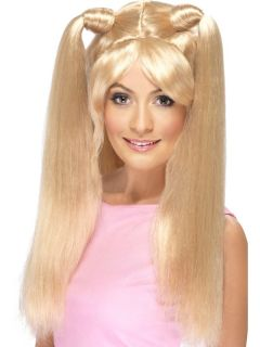 Spice Girl Wigs Baby Posh Ginger Sporty Scary Girl Power Ladies Wigs Fancy Dress