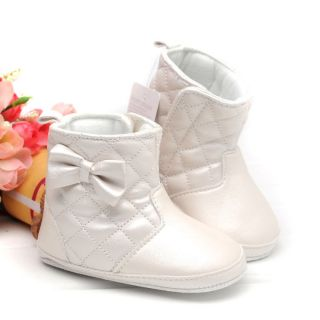 New Toddler Baby Girl Shoes Prewalker Bootest Winter Wamer Soft Sole Boots F88