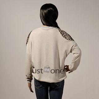 Womens Girl Casual Butterfly Leopard Shoulder Batwing Loose Sleeve T Shirt Shirt