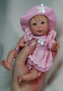 "OOAK Hand Sculpted 8"" Adorable Baby Girl by Melody Hess"