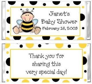 Personalized Bumble Bee Baby Shower Candy Bar Wrapper
