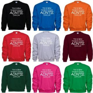 Worlds Greatest Auntie Mothers Day Birthday Christmas Gift Sweatshirt SM 5X