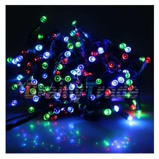 72ft White Solar Power 200 LED String Fairy Light for Outdoor Wedding Party Xmas