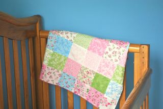 Dogwood Trail Baby Girl Patchwork Blanket Quilt Fabric