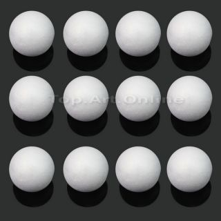 12 Pcs Modelling Polystyrene Styrofoam Foam Ball Spheres Decoration Crafts New
