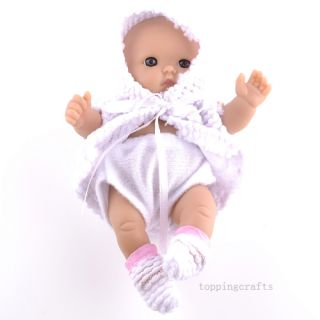 Precious Lifelike Polyethylene Reborn Lifelike Baby Doll Purple Clothes T8607