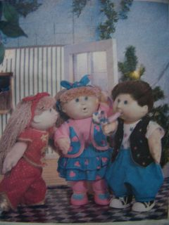 Cabbage Patch Kids Doll Clothes Pattern Uncut with Transfer