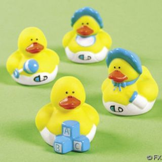 24 Mini Baby Boy Rubber Duck Duckys Blue Shower Favors
