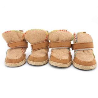 New Winter Warm Cozy Pet Dog Boots Puppy Shoes Clothes Apparel for Small Dog