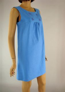 Blue Empire Waist Dress