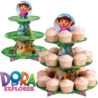 Wilton Dora The Explorer Cupcake Cake Stand Display Kids Birthday Party