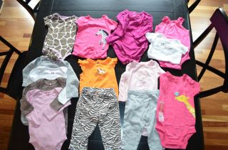 Huge Lot of 75 Baby Girl Clothes Size 12 Months Fall Winter Spring Summer