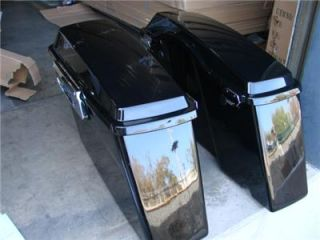 Returned Black Hard Saddl Bag Truck for Harley Davidson Touring Flt FLH