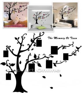 Removable Photo Tree Wall Stickers Decals with Frames DIY Modern Vinyl Decor