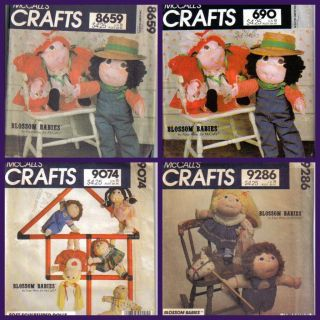 McCalls Sewing Pattern Soft Sculptured Blossom Babies Doll Doll Clothes