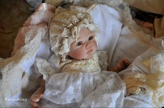 Winter Whites French Lace Dress Hat 4 Reborn Baby Doll