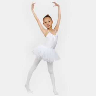 Girl's Leotard Dance Ballet Dress Skirt Tutu White