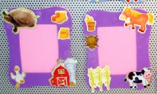 12 Farm Barn Animals Magnetic Mini Frames Party Favors
