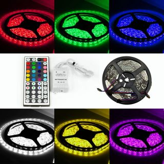 RGB 5050 LED Strip Lights Non Waterproof 10M 300Leds 44Key IR Remote Controller