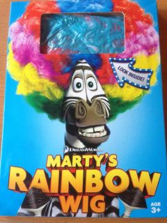 12 Marty's Rainbow Wigs Madagascar 3 Great Kid's Birthday Party Favor Brand New