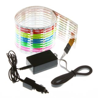 90x10cm Sound Music Activated Sensor Light Equalizer Colorful LED Car Sticker