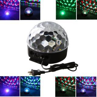 DMX512 Disco DJ Stage Lighting Digital LED RGB Crystal Magic Ball Effect Light