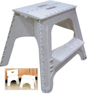 Large Foldaway Step Stool Collapsible Two Step Plastic Heavy Duty Lightweight