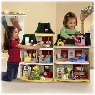 Fisher Price Loving Family Exclusive Holiday Dollhouse Fully Furnished Free SHIP